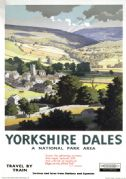 Yorkshire Dales, National Park Area. Vintage BR Travel poster by Ronald Lampitt. 1961